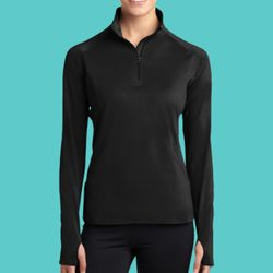 Ladies Sport Wick ® Stretch 1/2 Zip Pullover Thumbnail