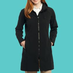 Ladies Long Textured Hooded Soft Shell Jacket Thumbnail