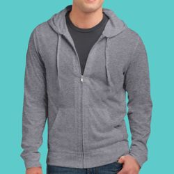 Young Mens Jersey Full Zip Hoodie Thumbnail