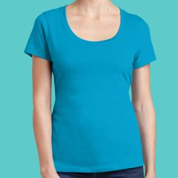 Ladies Perfect Weight ® Scoop Tee Thumbnail
